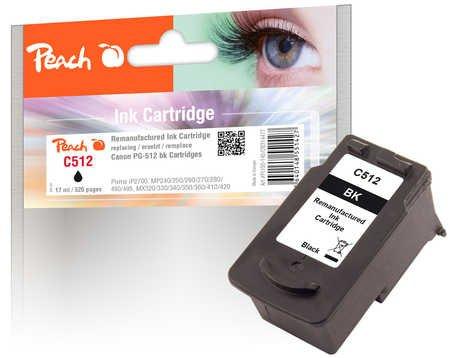 Peach Druckkopf schwarz kompatibel zu Canon PG-512