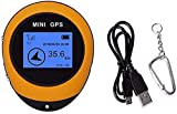 BEISITE Mini GPS Navigation,Portable Outdoor Location Finder Tracker Handheld with Kay Chain USB...