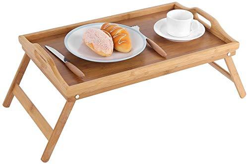 HOOM Bandeja para Cama Plegable, Mesa Desayuno con Patas Plegables Mesa Madera 50 * 30 * 22cm Tablet de Cama Plegable (ASA)