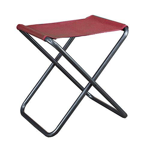 Westfield Kobold 2-in-1 faltbar Camping Hocker mit Abnehmbarer Tischplatte Rot Textil