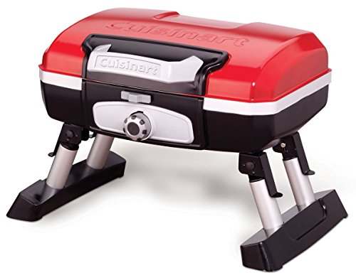 Portable Gas Grills for Camping with Folding Legs, Stabilizers, & Locking Lid
