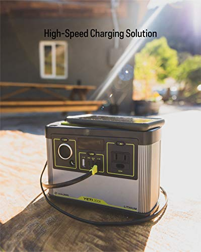 Goal Zero Yeti 200X Lithium Portable Power Station, 200Wh Power Station with AC Inverter and USB-C PD Fast-Charging