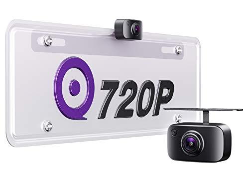 eRapta ERT11 3rd Generation Backup Camera License Plate Rear View Reversing Camera for Car Pickup Truck SUV RV Van 720P HD Front/Rear Camera with 149˚ Wide View Starlight Night Vision IP69 Waterproof