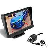 Backup Camera and Monitor Kit for Car/MPV/Pickup/Truck/SUV,Universal Wired Waterproof Rear-View 2-Installation Car Rear Backup Camera + 4.3 LCD Rear View Monitor