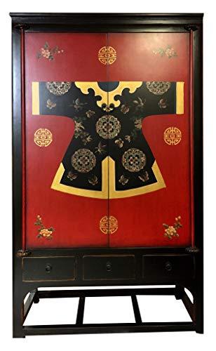 Fine Asianliving Chinese Bruidskast Handbeschilderde Kimono Qipao Kledingkast Chinese Kast Meubels Grote Kasten Chinese Kasten Oosterse Meubelen Stijl YL-07 Chinese Kast Meubels Chinese Kasten Oosterse Meubelen Stijl YL-07
