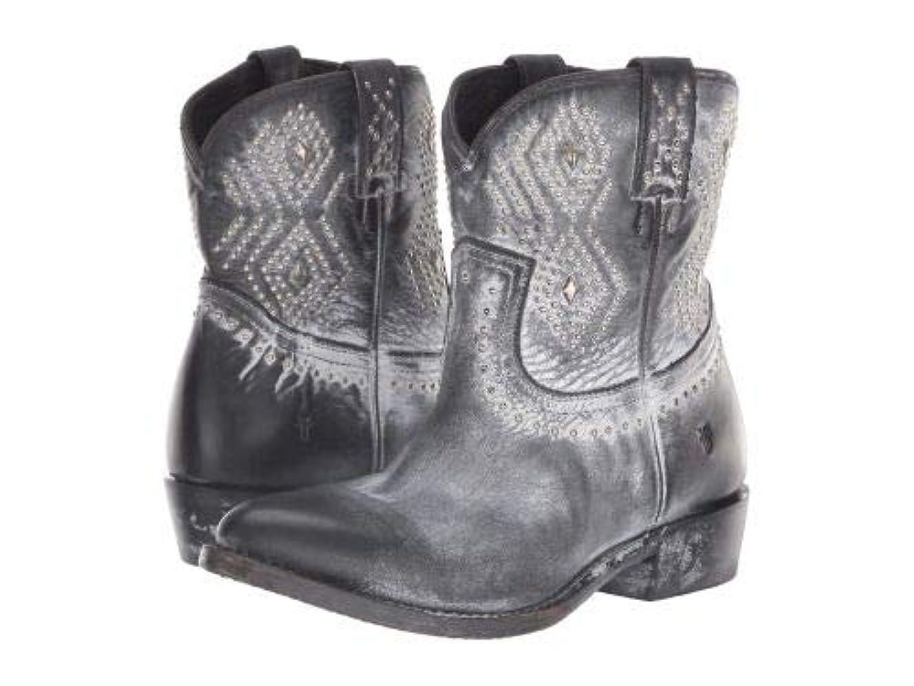 楽しいのど解体するFrye(フライ) レディース 女性用 シューズ 靴 ブーツ アンクルブーツ ショート Billy Stud Short - Black Waxed Full Grain [並行輸入品]