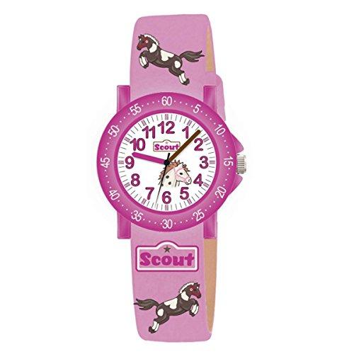 Scout Mdchen Analog Quarz Uhr mit Textil Armband 280375000