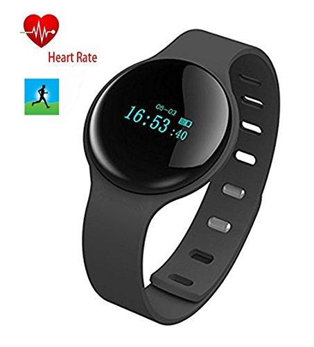 Dax-Hub H8 impermeabile, con Bluetooth Smart Wear telefonata & con messaggio 'Sincronizzazione; Telecomando remoto per fotocamera, Contapassi, con rilevatore Calorie, Sacco a pelo, monitor Smart-Orologio da polso sportivo compatibile con Android 4,3 e 4,4/4,5/5,0, IOS 5,1 7,0/8,0 8,1/4s/5s/6/6s smartphone