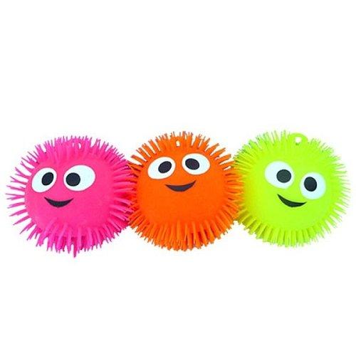 puff ball 23 cm visage + lumière (Coloris aleatoire)