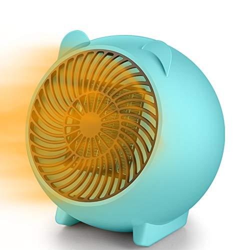 CNCBT Calentador de Ventilador eléctrico-Mini Calentador de Espacio Calentadores portátiles eléctricos con protección contra sobrecalentamiento y vuelco Adecuado,Azul