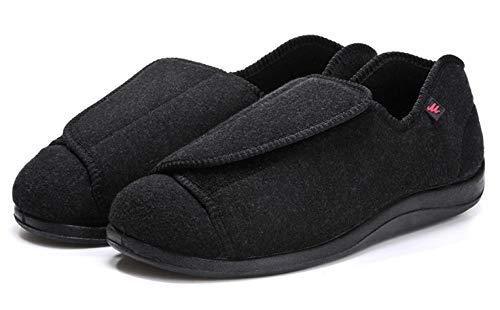 B/H Diabetiker OrthopäDische MäNner Easy Close Slipper,Schuhe für diabetische Fußschwellungen, Schuhe für postoperative Pflegepatienten-42_B,Therapieschuhe Weiche Sandaletten