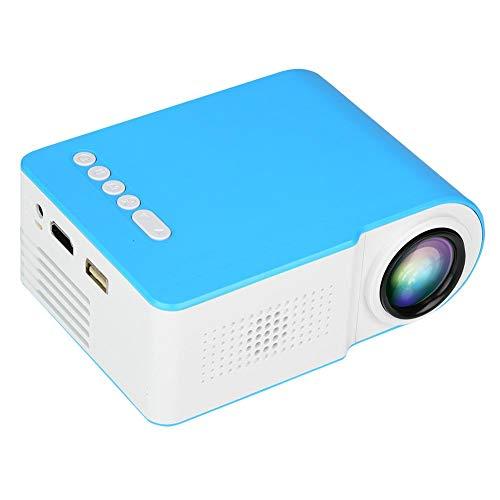 Goshyda Proyector, Mini LCD portátil HD TFT Proyector de Cine en casa Inteligente con lámpara LED, para reuniones de Oficina, Fiestas al Aire Libre, Interiores, Negro(Enchufe de la UE)