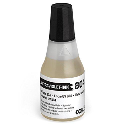 Colop UV Tampón Color 804Ultraviolett 25ml––Recarga de color sello de tinta