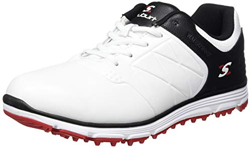 Stuburt Golf SBSHU1124 Evolve II Dri - Zapatos de Golf Impermeables sin Clavos, Hombre, SBSHU1124, Blanco y Negro, 44,5 EU