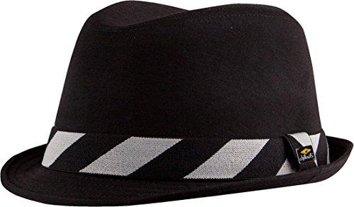Mombasa heeft moderne Trilby Hoed in 2 kleuren met Brim Abgesetzer-Coloured Top Quality - Zwart - Small