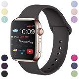 Hamily Armband Kompatibel für Apple Watch 42mm 44mm, Weiche Silikon Wasserdicht Ersatz...
