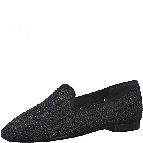 Tamaris Femme Chaussures Basses, Dame Mocassin,Chaussons,Touch It,Chaussures à Enfiler,Slip-on,à la Mode,Chaussures de Loisir,Black,36 EU / 3.5 UK