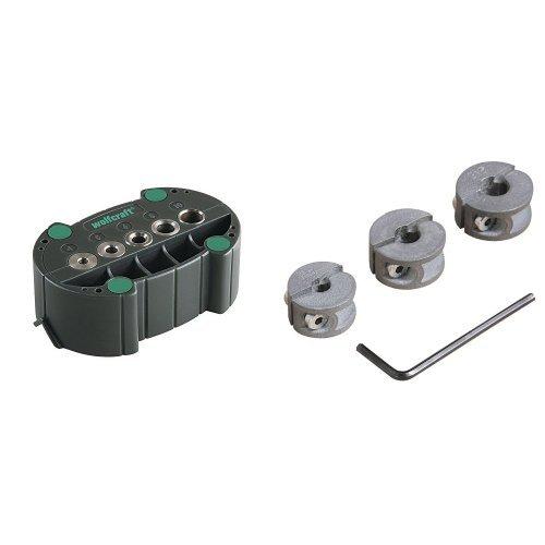 Wolfcraft 4685000 - Accumobil - guía para taladrar móvil Ø 4, 5, 6, 8, 10 mm + Topes Profund, 6-8-10Mm