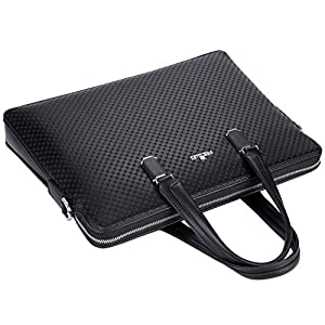 FSDWG ビジネスバッグ メンズ 紳士 本革 編み込みバック ブリーフケース ビジネスバック トートバッグ ビジネスバッグ 2way A4サイズ対応 大容量 防水 人気 丈夫 ブラック ブルー