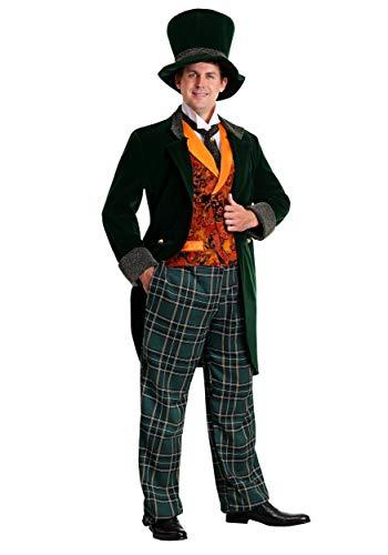 Men's Alice in Wonderland Mad Hatter Costume Deluxe Plus Size Mad Hatter Costume 4X