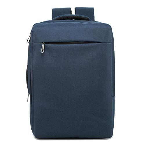 Borse per Notebook e Accessori Moda Grande capacità Casual Notebook Backpack Traspirante Tablet (Nero) Ctj (Colore : Blue)