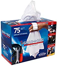 Grab•a•Rag Microfiber Cleaning Cloth, Soft Highly Absorbent Lint-Free Streak-Free Reusable Microfiber Towel Wipes for House, Kitchen, Bathroom, Car, Electronics, TV Screen, Pack of 75 (11.7