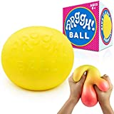 Power Your Fun Arggh Giant Stress Ball for Adults and Kids - Jumbo Squishy Stress Ball Fidget Toy, Anti Stress Sensory Ball Squeeze Toy (Yellow/Orange)