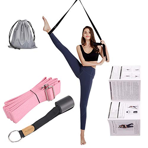 UBING Leg Stretcher, Door Flexibility Trainer, Over The Door Strech Strap for Flexibility, Splits Trainer for Dance Ballet Cheer Gymnastics Taekwondo Stretching