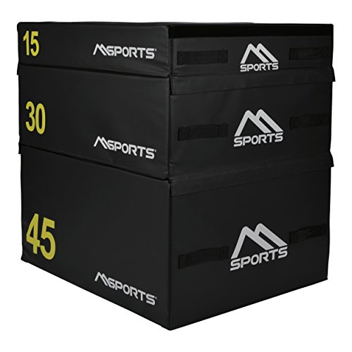 MSPORTS Plyo Box Professional 3-teilig | Jump Box Set • Plyo Box • Sprungbox • plyometrisches Training (Set komplett - 90 x 75 x 90 cm)
