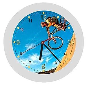 ✿ Kinderwanduhr in 4 Farben ✿ Radsport cycling 1 Verein ✿ Wanduhr ✿ Kinderuhr ✿ KEIN TICKEN ✿ mit/ohne Name
