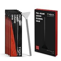 TYCKA センサークリーニングキット 18ピース 24mm ウェットセンサクリーナー クリーニング綿棒キット フルフレーム デジタル一眼レフカメラ レンズ メガネ用 目に見えない粒子や汚れを吸収し掃きするのに最適