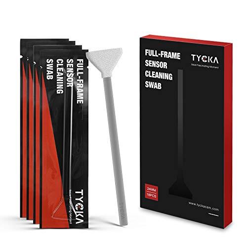 TYCKA kit di pulizia kit pulizia sensore per sensore full frame fotocamera digitale DSLR o SLR, 24mm pre-bagnato18 pezzi