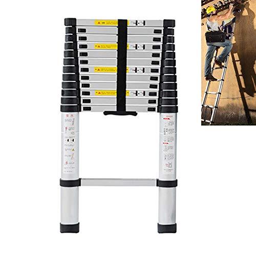 XEWNEG Escaleras Telescópicas Aluminio, Escalera De Extensión Plegable, Pisada Antideslizante, Escaleras Portátiles para Jardín Al Aire Libre, Capacidad Carga 150kg(Size:6.1m(20ft))