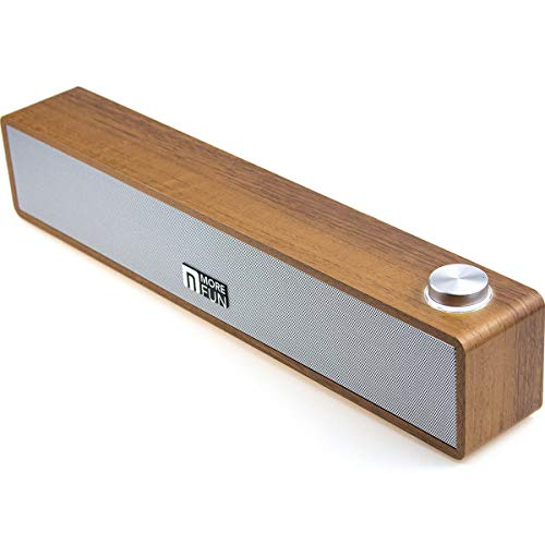 Wired Wood Computer Sound Bar, USB-Powered PC Speakers Now $11.99 (Was $30)