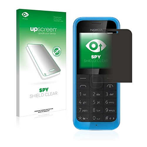 upscreen Spy Shield Clear Blickschutzfolie / Privacy für Nokia New 105 (Sichtschutz ab 30°, Kratzschutz, selbstklebend)