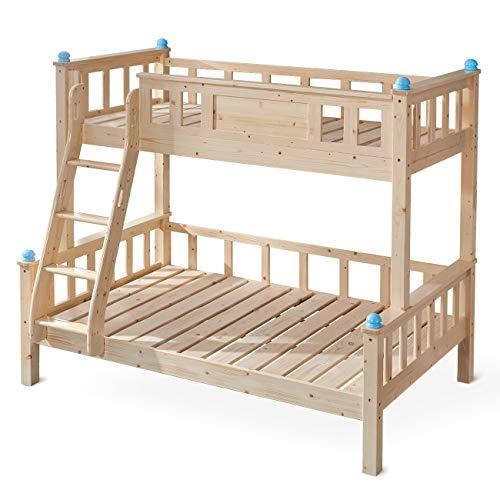 tomons Etagenbett Massives Kiefernholzbett Kinderbett für Zuhause, Hotel, Wohnungen SZ01002 (oberes Bett 90 cm x 200 cm, unteres Bett 120 cm x 200 cm)