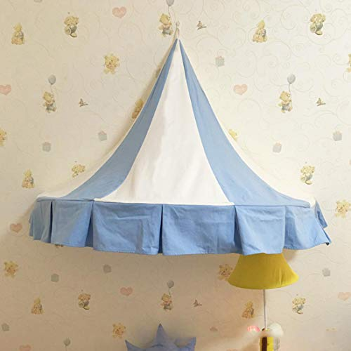 LWKBE Tente pour Enfants Literie Salle de Jeux Chambre de Jouets Art de Chiffon Demi-Lune Tente de lit à baldaquin Tentes avec Rideau de Gaze (Seulement Une Tente),Lightblue