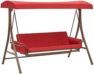 Garden Winds Replacement Canopy Top Cover for The Garden Treasures Porch Swing - Riplock 350 - Cinnabar