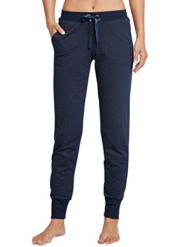 Schiesser Damen Lange Schlafanzughose Jerseyhose Lang - 165671, Farbe:hellgrau, Größe Damen:80