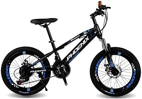 Fahrräder 20 Zoll Geschwindigkeit Mountainbike-Jungen Fahrrad Studenten Rennrad Außen Verkehrsmittel Fahrrad 5 ~ 15 Jahre alt (Farbe: Blau, Größe: 20inches) lalay ( Color : Blue , Size : 20inches )
