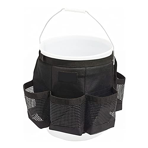 Organizador de herramientas de cubo, bolsa de almacenamiento colgante, carrito de herramientas de cubo de limpieza, organizador de herramientas de cubo para herramientas de jardín que se ajustan a un