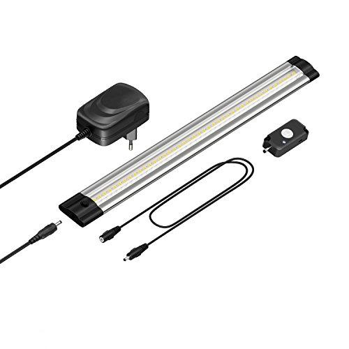 parlat LED Unterbau-Leuchte Siris mit Netzteil, Bewegungsmelder, flach, 30cm, 330lm, warm-weiß