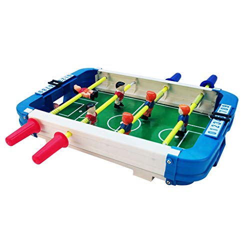 Tabletop Foosball Table - Portable Mini Table Football/Soccer Game Set with Two Balls and Score Keeper for Adults and Kids for Arcades, Game Room, Bars, Parties, Family Night (Green, plastic)