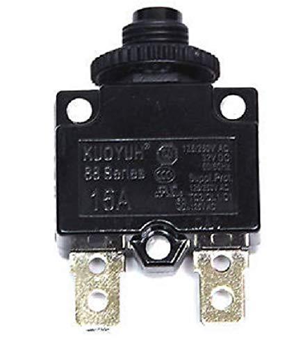 KUOYUH Circuit Breaker 88 series 125/250VAC 50/60Hz (1pc) (15A)