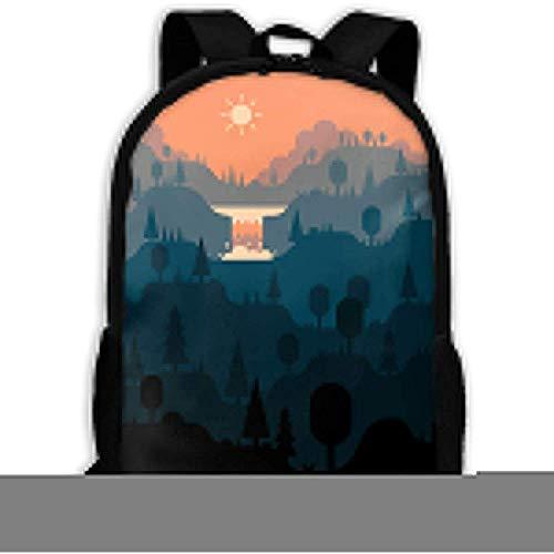 Zaino per adulti Unisex Spring Mountain, borse per libri sportivi da scuola,...