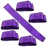 6 Pieces Blank Satin Sashes Wedding Sash Plain Sashes Bridal Belts Party Decorations Sash Classic Ribbon Sash for DIY Wedding Hen Party, Purple
