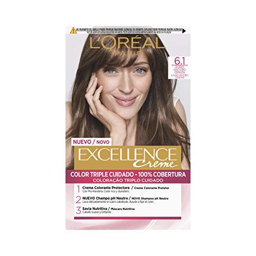 L Oréal Paris Excellence Creme Tinte Tono 6.1 Rubio Oscuro Ceniza - 50 ml
