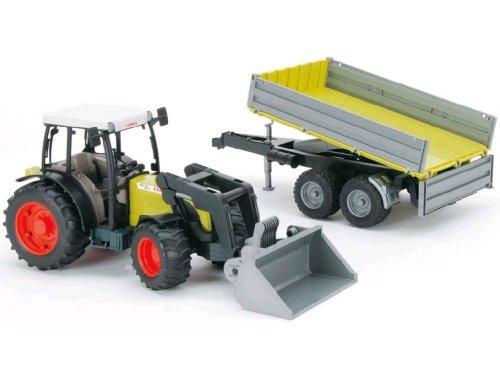 bruder 01998 - Tractor Claas Nectis con Pala Frontal y Remolque