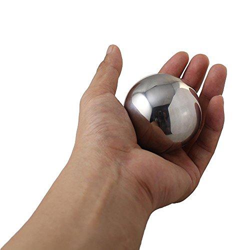 5.5cm何度も使えるステンレススチールアイスキューブボール球体ウイスキーワインの冷却ストーン