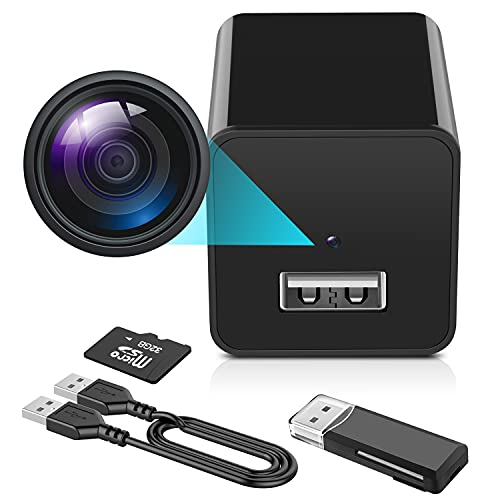 Hidden Camera - 1080P Spy Camera with Audio and Video - Mini Nanny Cam - Portable Motion Detection...